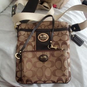 Coach wristlet and crossbody purse